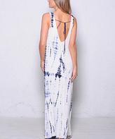 Paparazzi Navy Tie-Dye Maxi Dress