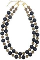 Black Tiger Eye Stones Double Strands Necklace
