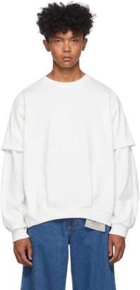 Keenkee White Sclupture Double T Sweatshirt
