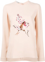 Stella McCartney bird embroidered sweatshirt - women - Spandex/Elastane/Acetate/Viscose - 40