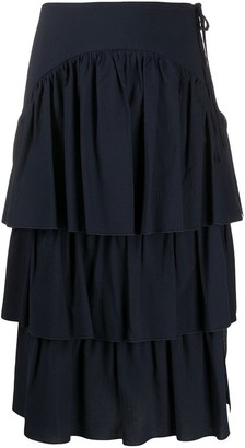 See by Chloe Tiered Ruffled Skirt
