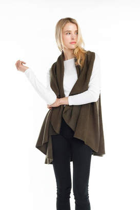 Look By M Solid Shawl Vest