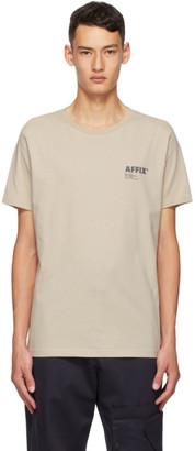 AFFIX Taupe Standardized Logo T-Shirt