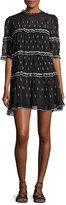 Isabel Marant Lyin Colorblock Midi Dress, Black