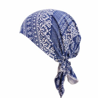 Kalorywee Womens Turban Hats Ladies Bandana Scarf Pre Tied Chemo Hat Beanie Turban Headwear