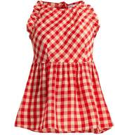 RED Valentino Gingham cotton top