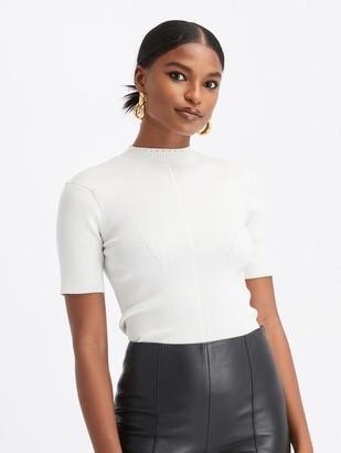 Oscar de la Renta Knit Short Sleeve Pullover