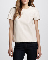 French Connection Faux Leather Tee