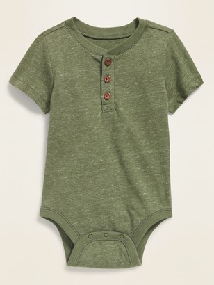 Old Navy Short-Sleeve Henley Bodysuit for Baby