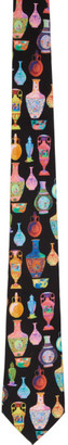 Versace Multicolor Vase Neck Tie