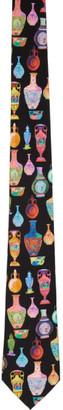 Versace Multicolor Vase Neck Tie