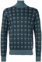 Brioni checked pattern pullover