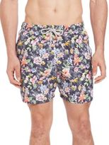 Saks Fifth Avenue Collection Floral-Print Swim Trunks
