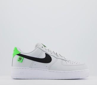 Nike Force 1 07 Trainers Pure Platinum Black Green Strike