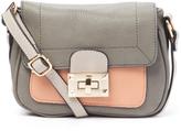 Kathy Ireland Gray Color Block Crossbody Bag