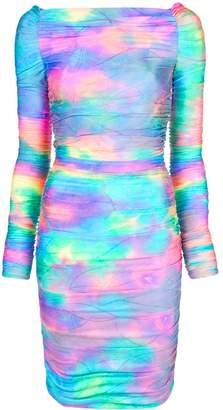 Sies Marjan Jolene glitter tie-dye mini dress