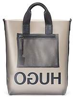 Hugo Boss Reversed-logo tote in a smoked-effect semi-transparent material