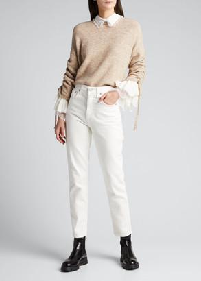 Cinq à Sept Atlas Collared Pullover Sweater