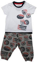 Guess Badge Print T-Shirt and Pants Set