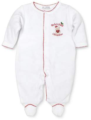 Kissy Kissy Unisex Baby's First Christmas Velour Footie - Baby