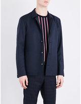 Tiger Of Sweden Bronson Basket-weave Wool And Silk-blend Jacket