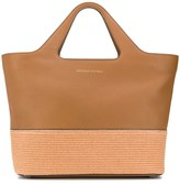 Brunello Cucinelli Straw Trim Large Tote Bag
