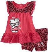 Hello Kitty Bike Shorts Set (Baby) - Deep Fuchsia-24 Months