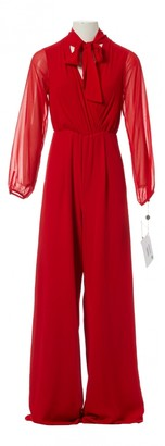 Non Signé / Unsigned Non Signe / Unsigned Red Polyester Jumpsuits