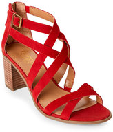 Franco Sarto Paprika Red Hachi Block Heel Sandals