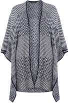 Dorothy Perkins Navy And Ivory Jacquard Blanket