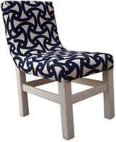 Somers Furniture Santorini Outdoor Curve Dining Chair in White/Navy