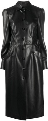 Ermanno Scervino Leather-Look Shirt Dress