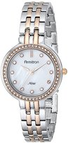 """Swarovski Armitron Women's """"75/5244MPTR Crystal Accented Silver-Tone and Rose Gold-Tone Bracelet Watch"""