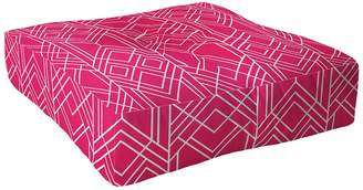 Deny Designs Elisabeth Fredriksson Art Deco Hot Pink Square Floor Pillow