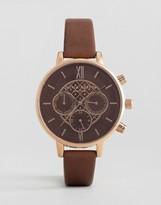 Olivia Burton Chrono Brown Leather Watch