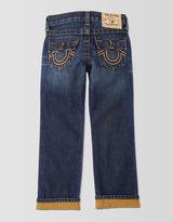 True Religion Jack Slim Reverse Dye Gold Cuff Boys Jean