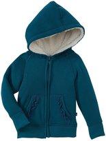 Kickee Pants Zip Front Hoodie (Baby) - Peacock-3-6M