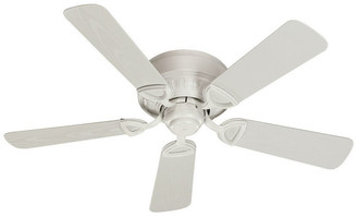 "Quorum International Medallion 42"" 5-Blade Patio Fan, Studio White"