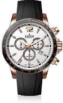 Edox Men's Chronorally S 44mm Rubber Band Swiss Quartz Watch 10229 37rca Air