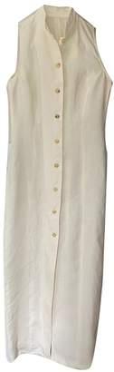 Alberto Biani White Linen Dresses
