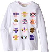 Fendi Long Sleeve T-Shirt w/ Monster Faces Graphic Girl's Dress