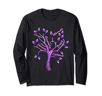 Social Worker Word Tree Gift Graduation Social Work Long Sleeve T-Shirt