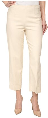Nic+Zoe Petite Perfect Pant Side Zip Ankle (Sandshell) Women's Casual Pants
