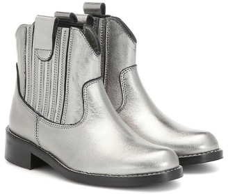 Bonpoint Metallic leather ankle boots
