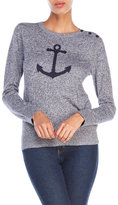 Nautica Anchor Melange Knit Sweater