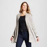Knox Rose Women's Jacquard Open Cardigan with Zipper Cuff