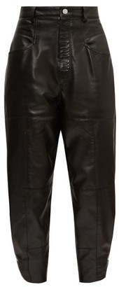Isabel Marant High-rise Leather Trousers - Black