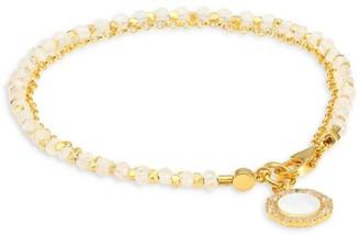 Astley Clarke White Sapphire & 18K Yellow Goldplated Charm Bracelet