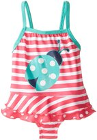Pink Platinum Platinum Baby-Girls Infant Stripe Lady Bug 1 Piece