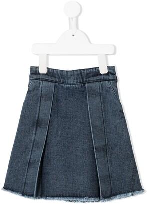 Andorine A-line denim skirt